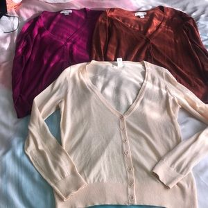 3 Forever 21 cardigan long sleeves size small
